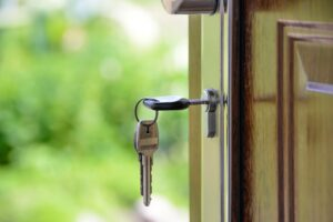 Key in Door After Buying House