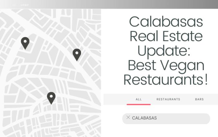 Calabasas Real Estate Report Update: Best Vegan Restaurants Blog Cover